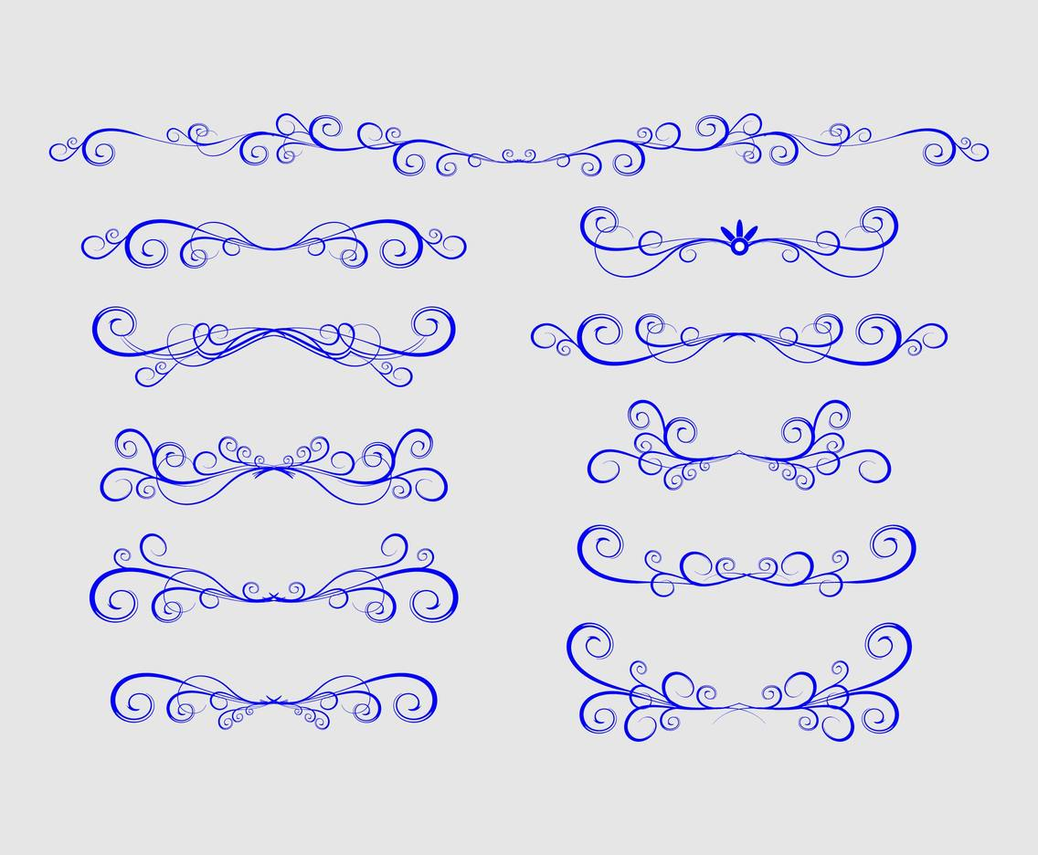 Curlicues calligraphy stock vector