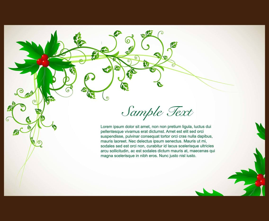 Holly invitation card vector vector art graphics freevector holly invitation card vector stopboris Image collections