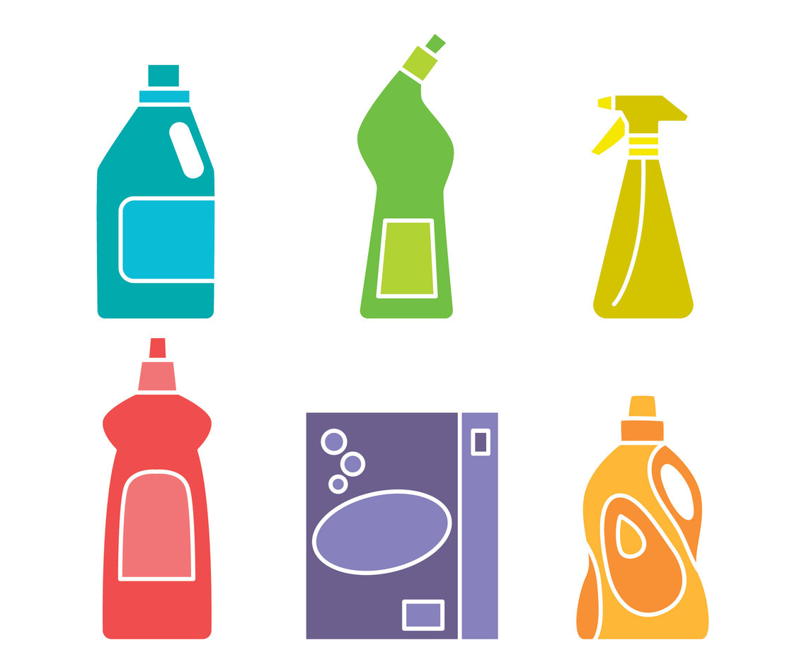 Colorful Detergent Vector Sets
