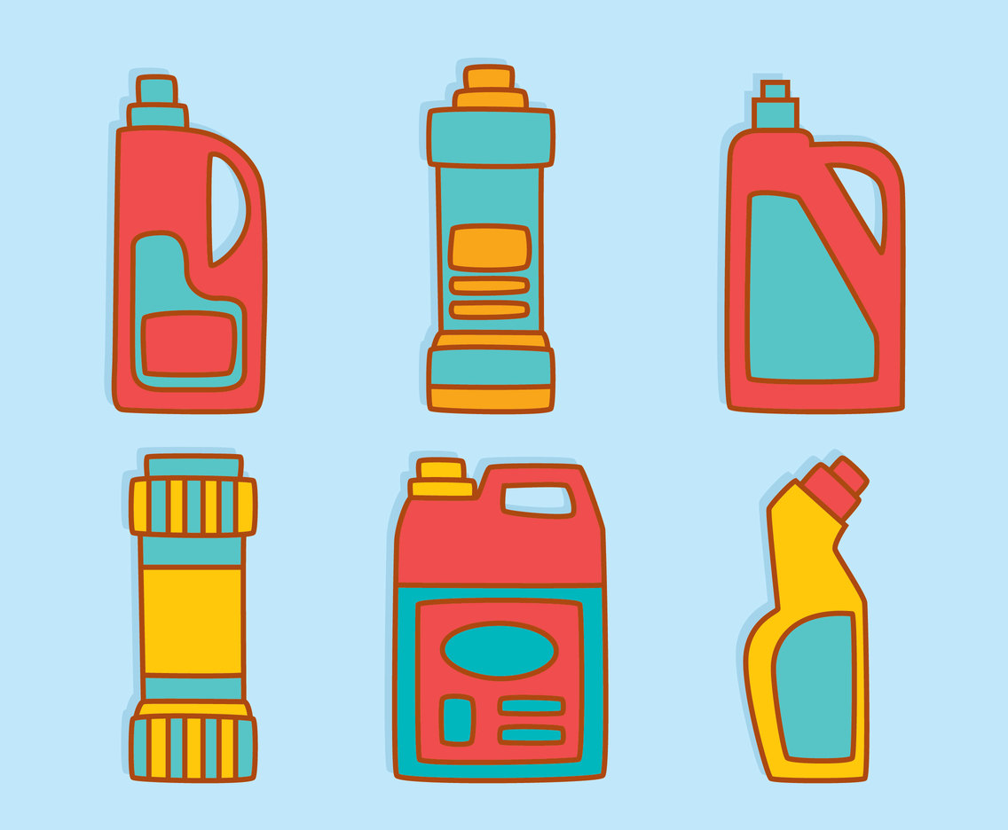 Hand Drawn Detergent Vector Set