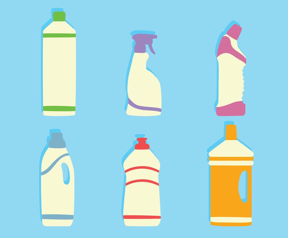 Detergent Bottle Vector Set
