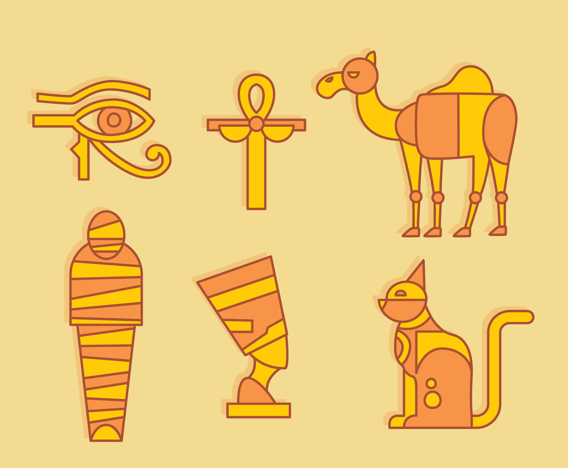 Egypt Element Vector Set
