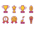 Award Linear Icons