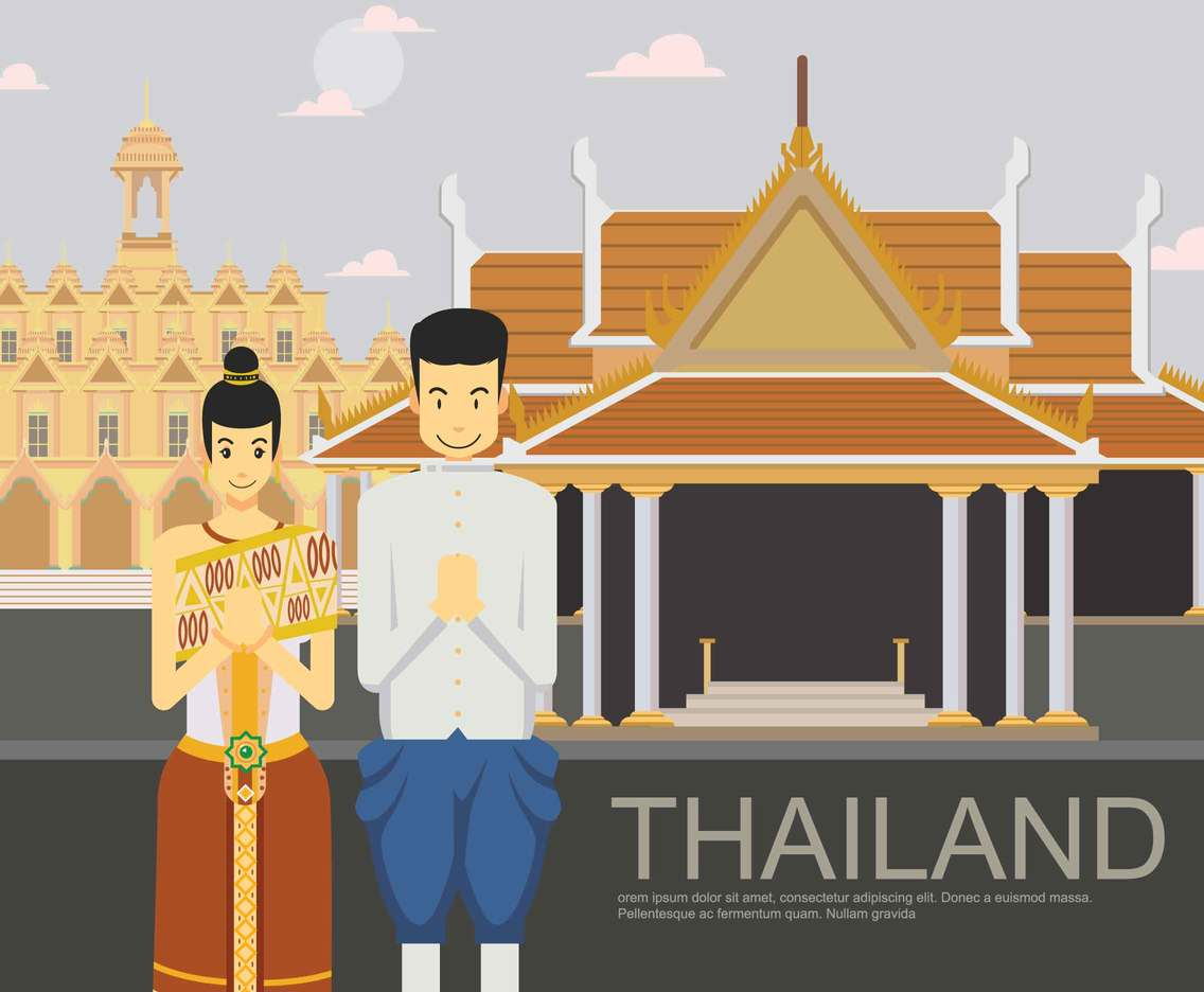 Free Thai Greeting Illustration