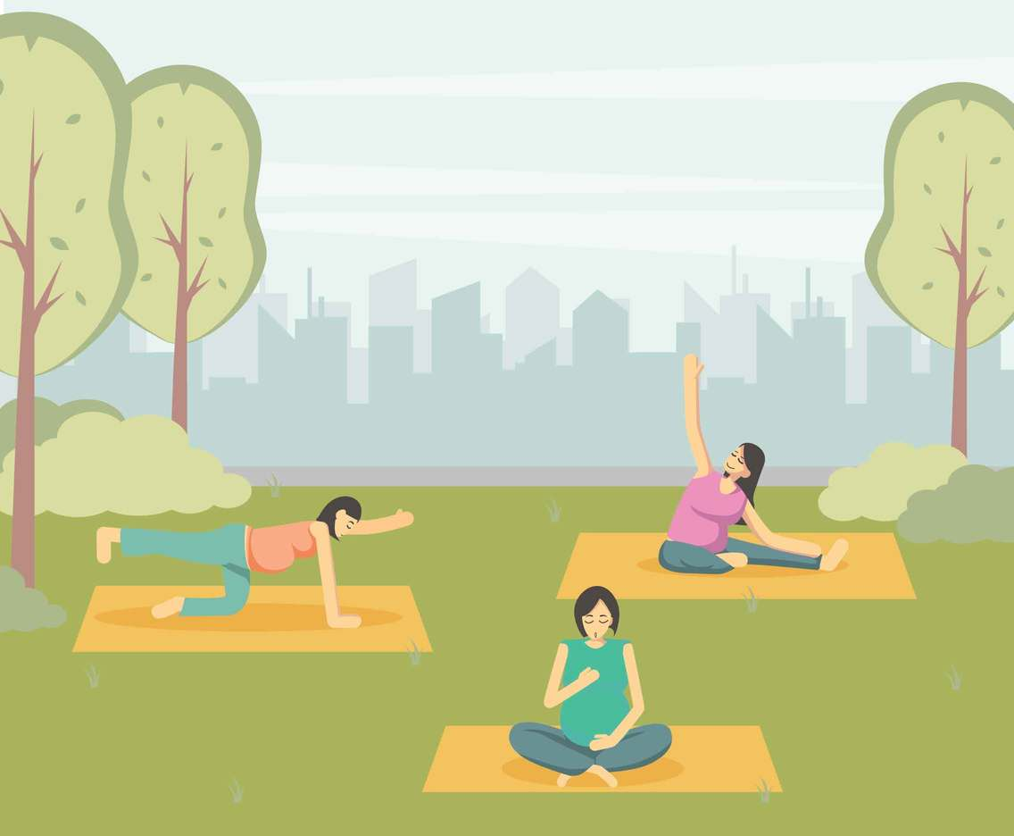 Free Yoga class for pregnant Illustration