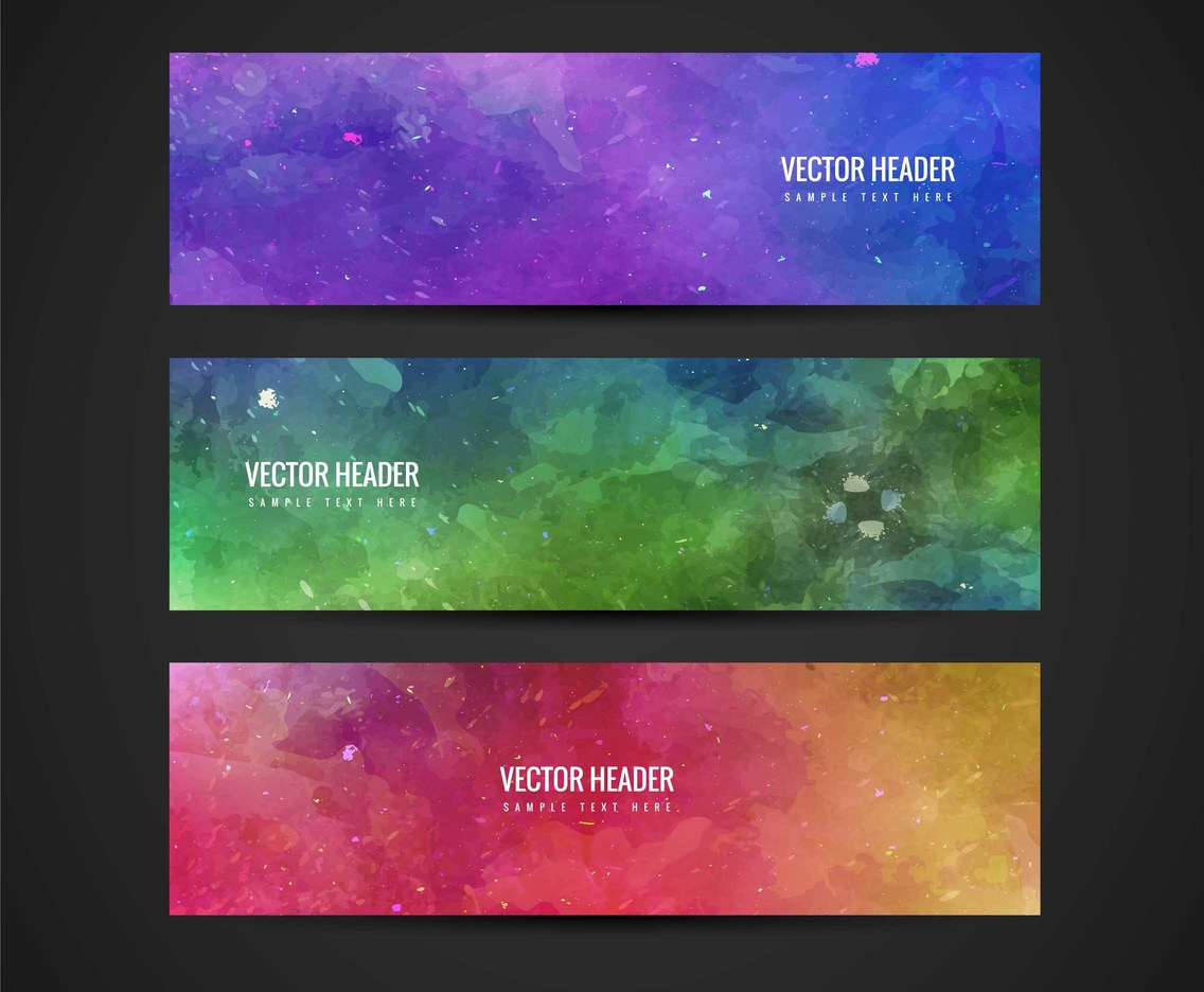 Free Vector Abstract Colorful Banners