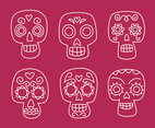 Hand Drawn Mexican Skull Vector