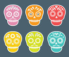 Colorful Mexican Skull Vector