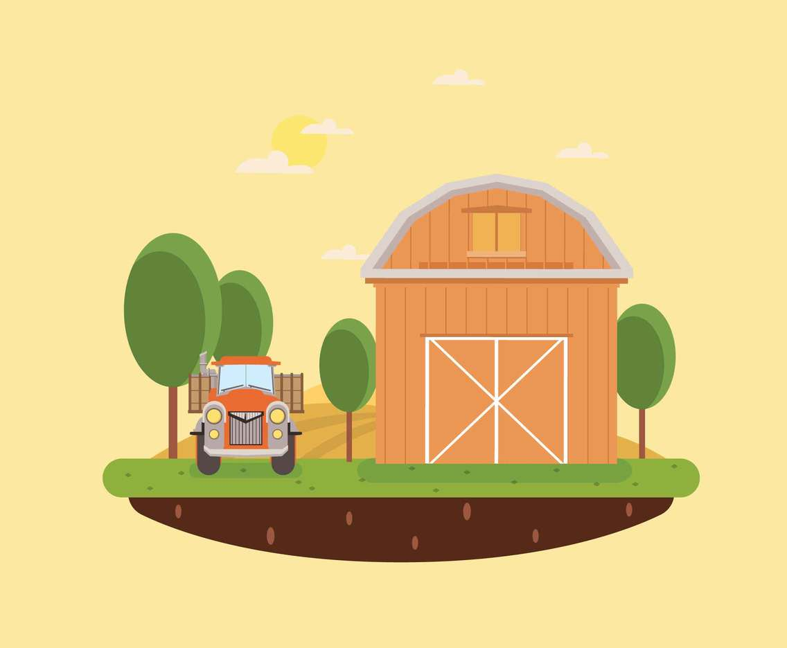 Free Brown Barn Illustration