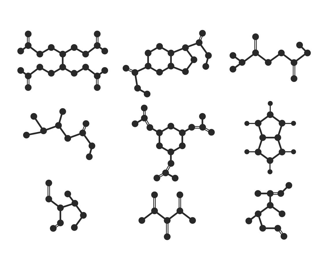 Simple flat molecules in various compostion