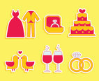 Nice Wedding Element Vector