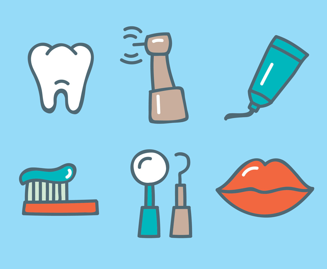 Hand Drawn Dental Care Vector