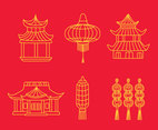 Chinese Tradition Element Line Vector