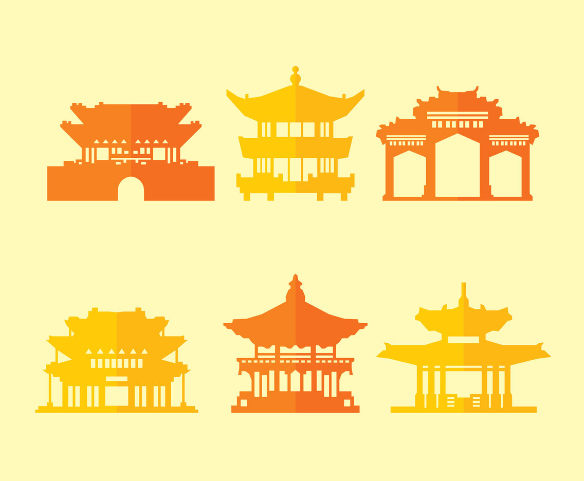 Pagoda Collection Vector