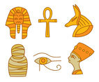 Hand Drawn Egyptian History Element Vector