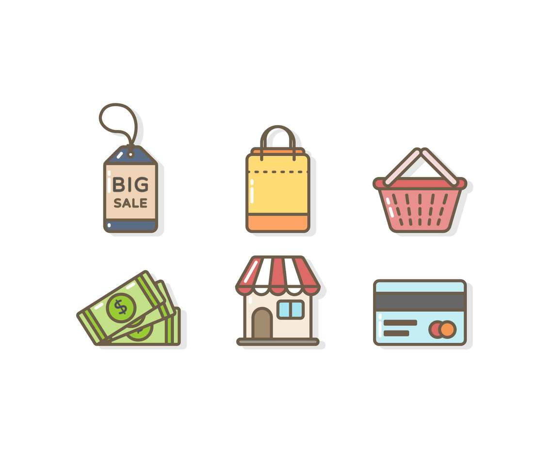 Free Unique E-Commerce Icon Vectors