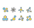 Molecules Flat Icon