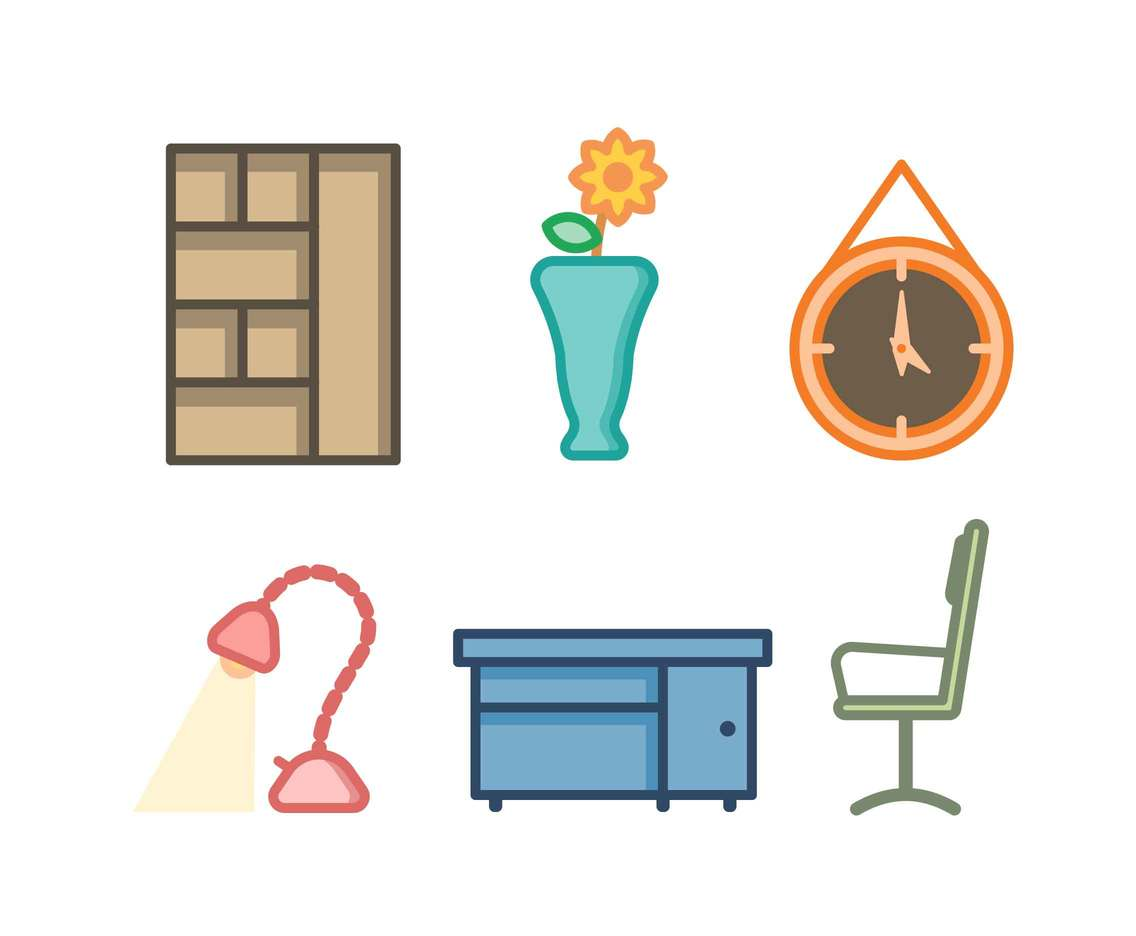 Free Neat Office Furniture Vectors