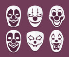 Joker Face Collection Vector