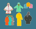 Bathrobe Collection Vector