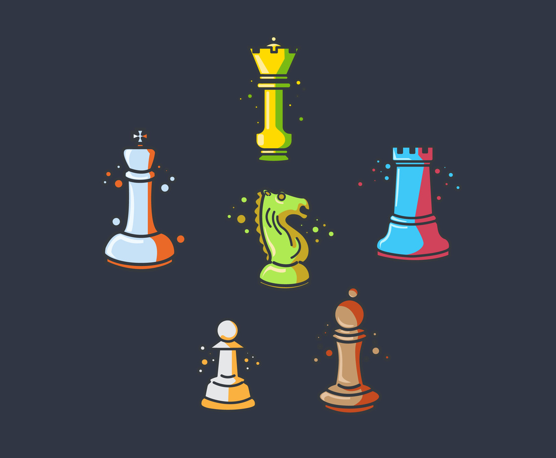 Sketchy Chess Vector