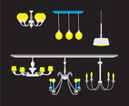Various Chandelier Types Vector