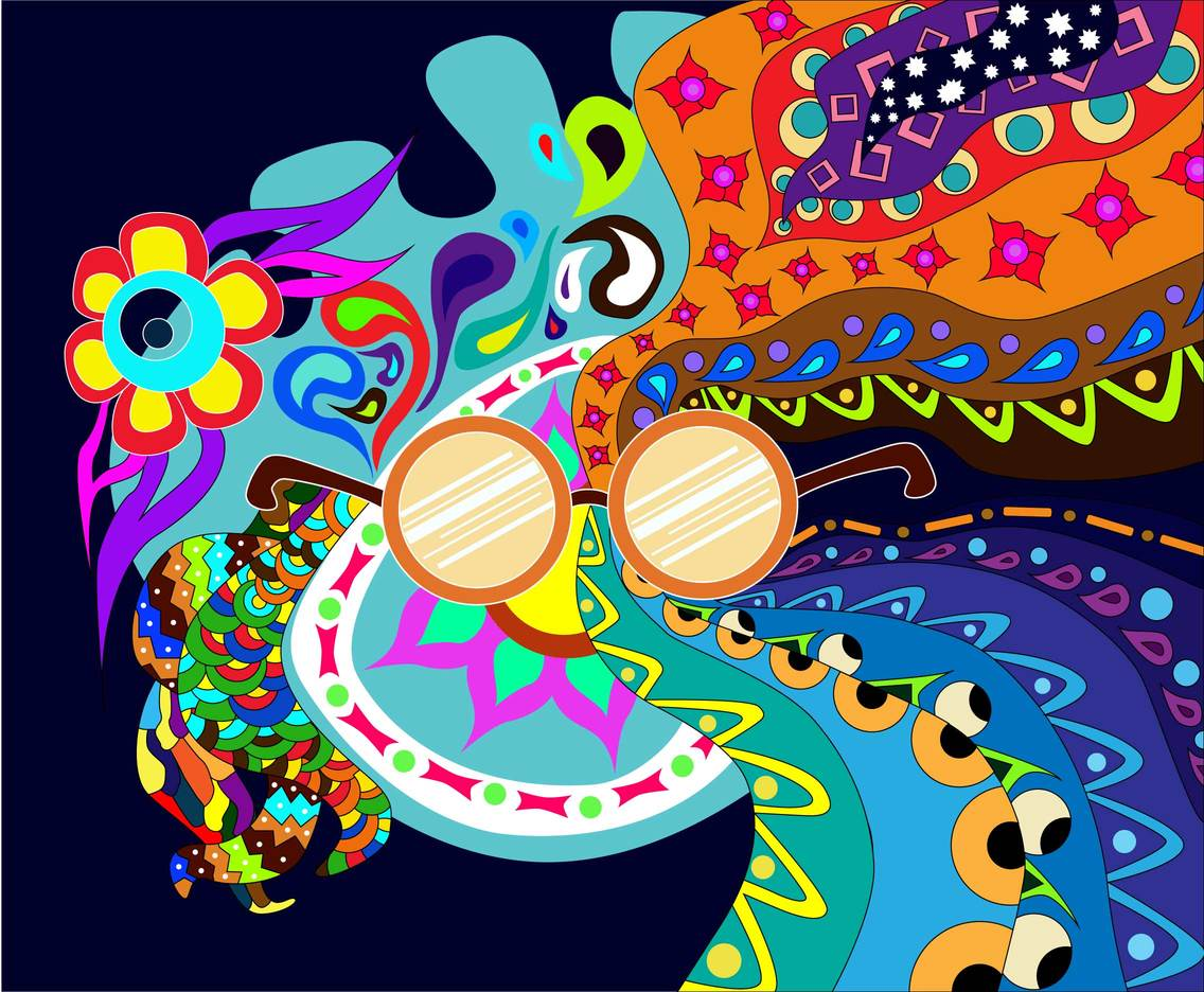 psychadelic hippie background vector vector art amp graphics