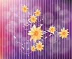 Cool Flowers Vector