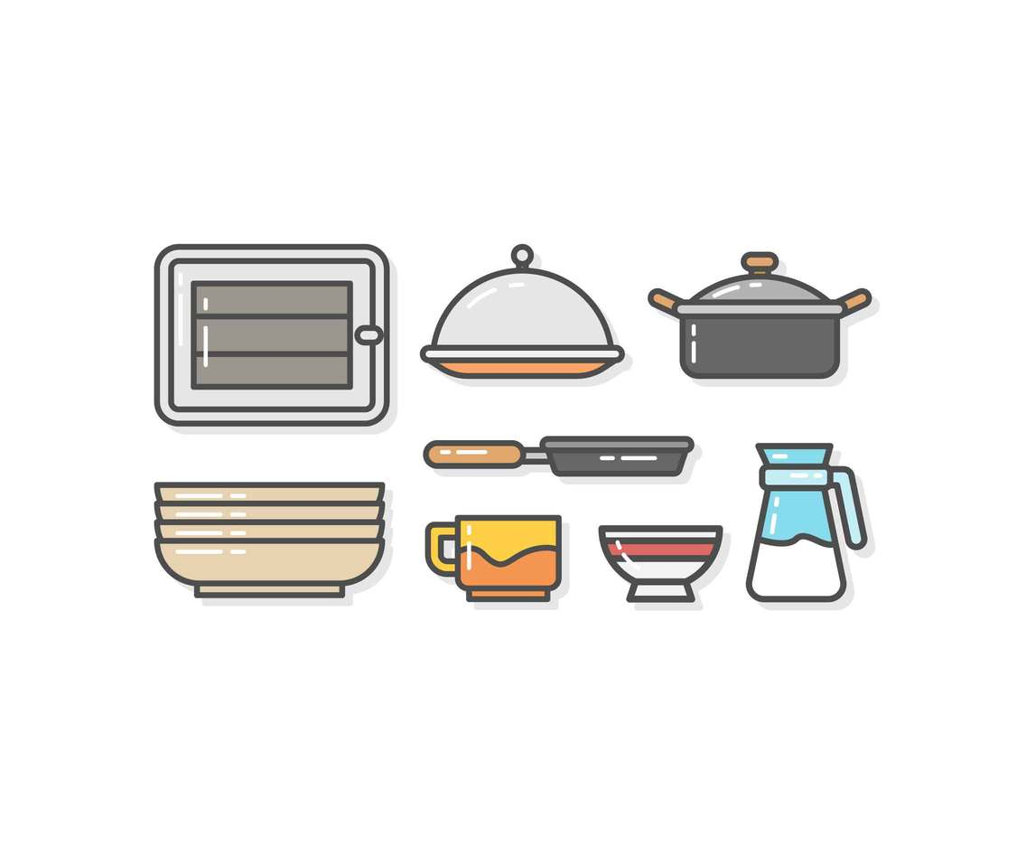 Free Modern Kitchenware Vectors
