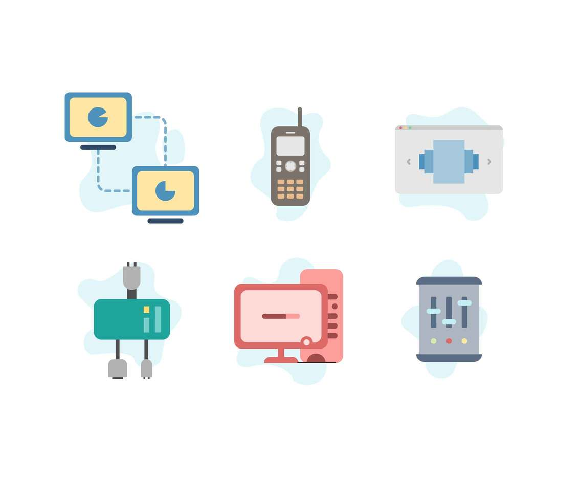 Free Costumizable Network Server Icons Vector