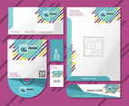 Teal Letterhead Vector Set