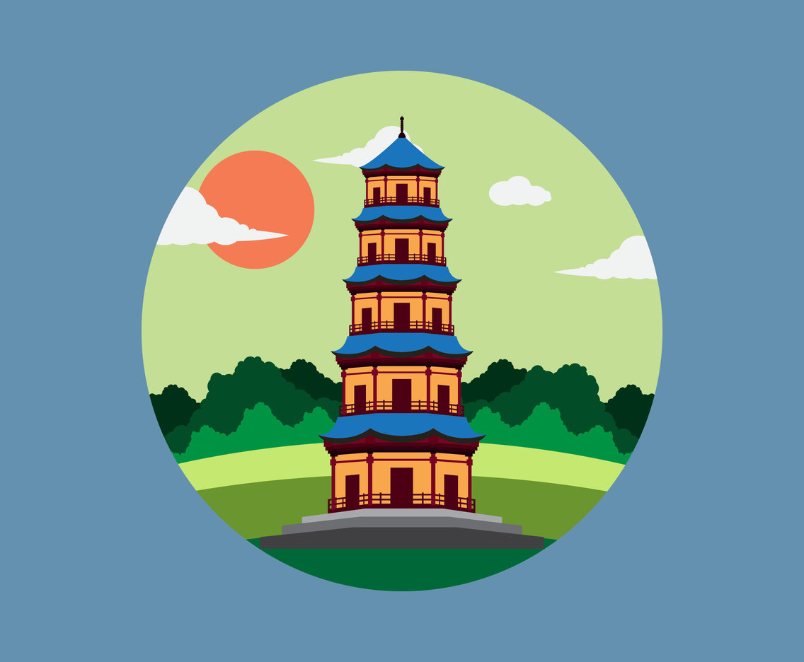 Pagoda Flat illustration