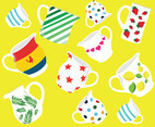 Bright and Fun Pitcher and Jug Vectors