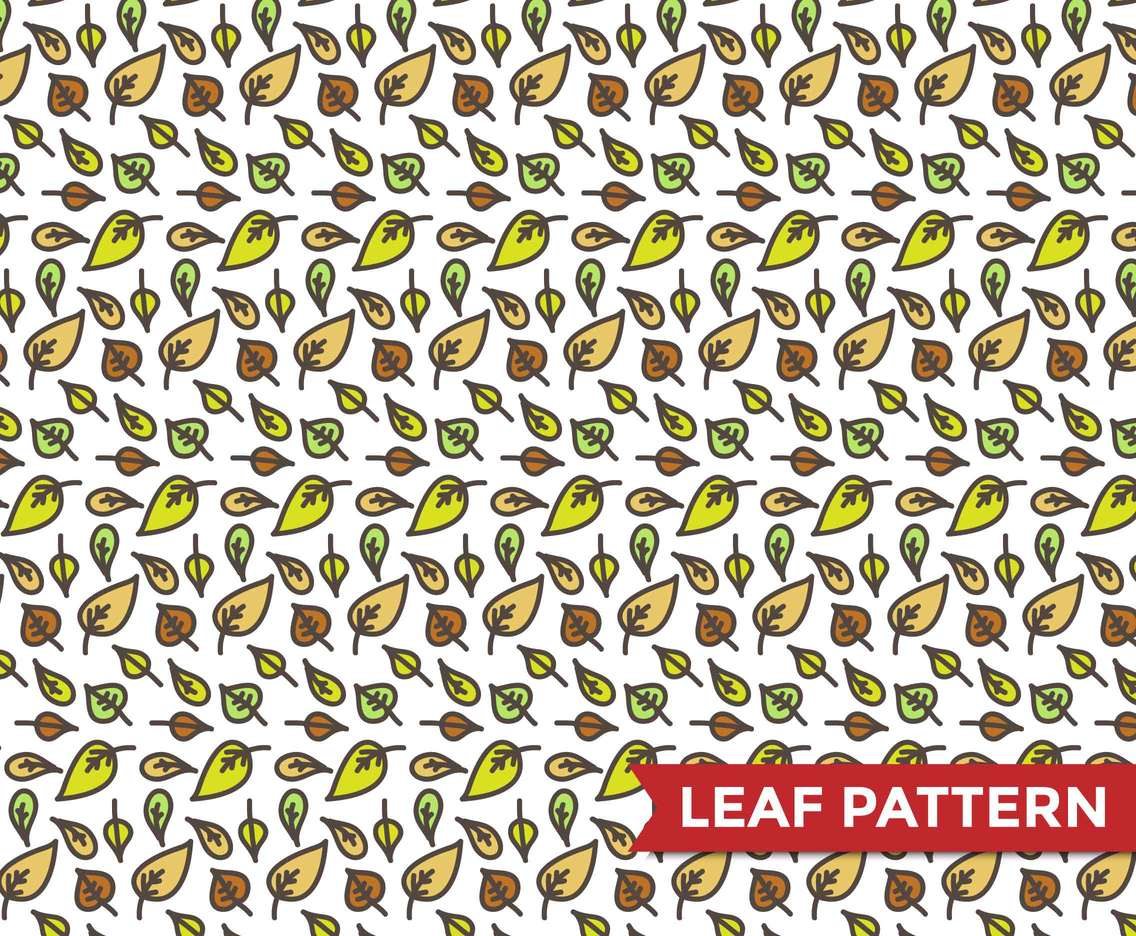 Leaf Pattern Illustration Vector #2