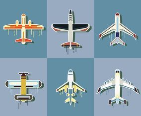 Modern Cartoon Plane Vector