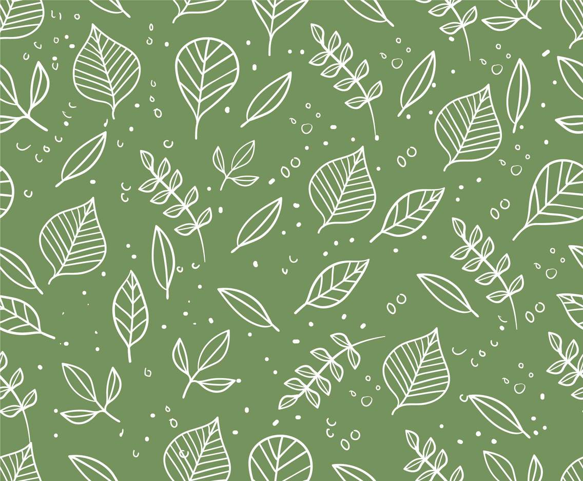 Hand drawn leaf pattern seamless