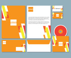 Orange Letterhead Template