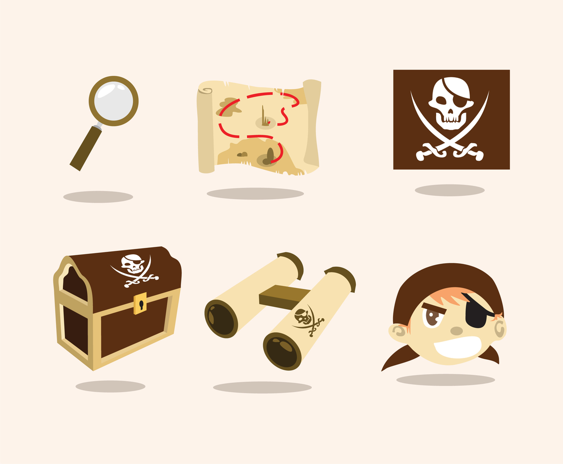 Hidden Treasure Illustration Vector