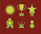 Reward Badge and Icons Vector