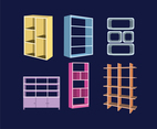 Various Shelves Vector