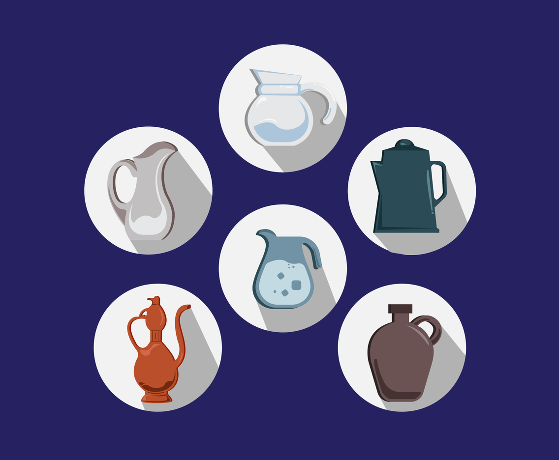 Various Jugs Vector