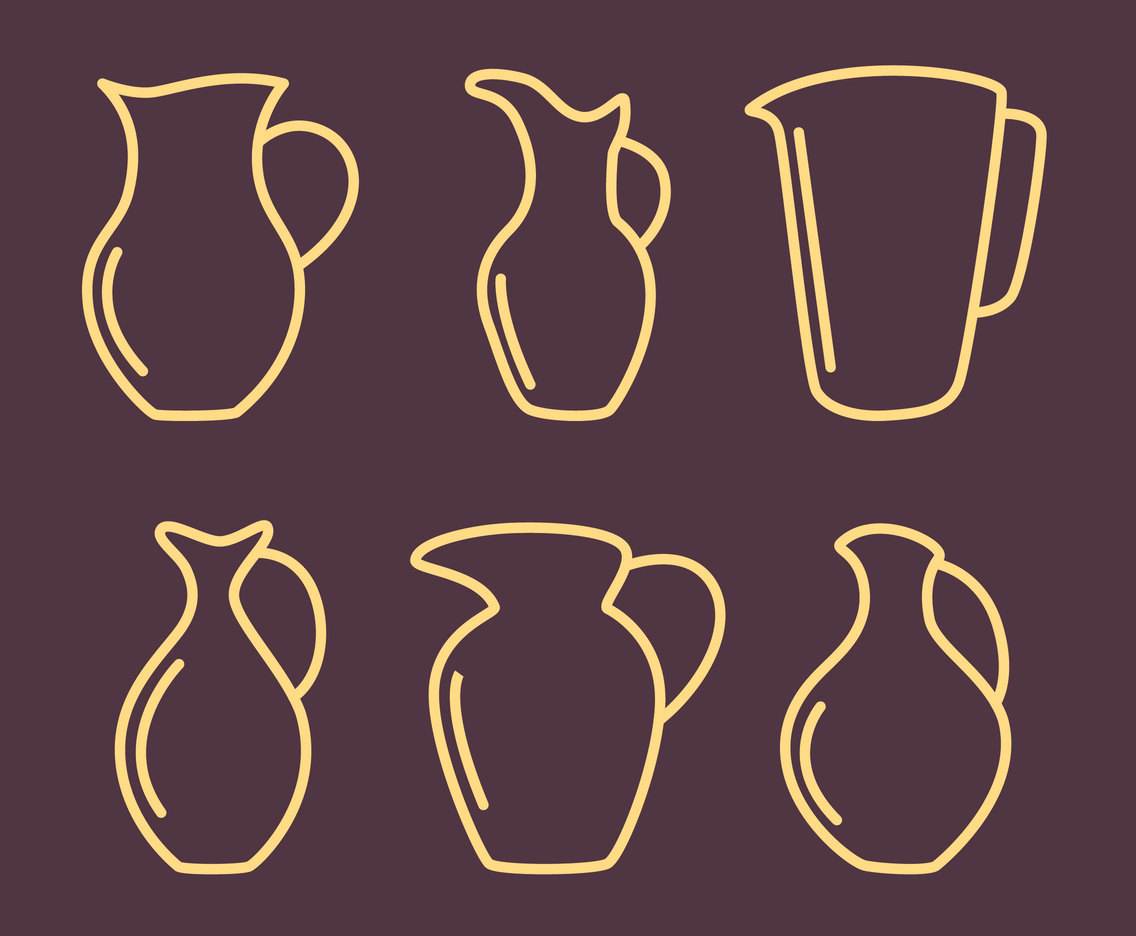 Jug Outline Vectors