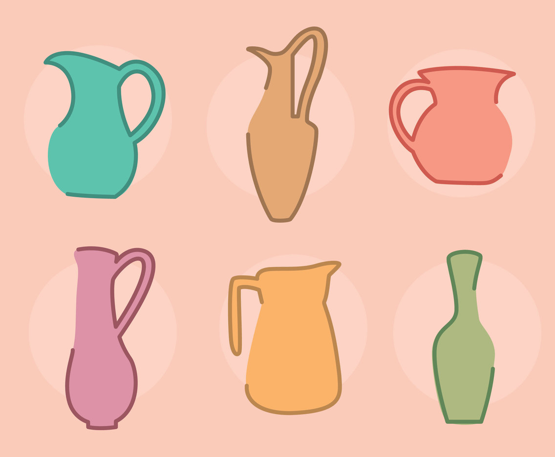 Colorful Jug Vectors