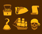 Pirate Treasure Element Vector