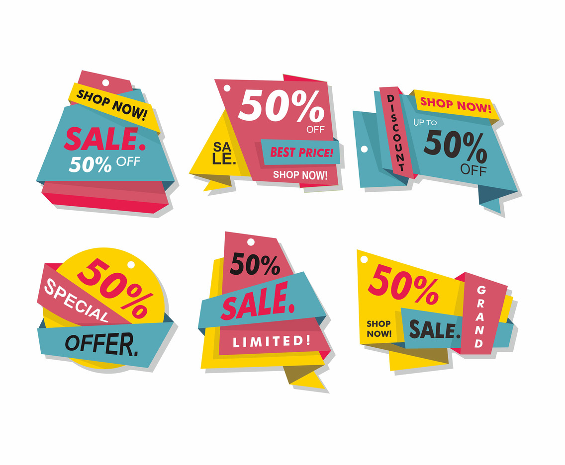 Colorful Cheap Label Vector Design