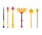 Magical Wand Sticker Designs