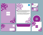 Abstract Purple Stationary Set