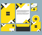 Modern Yellow Letterhead Set