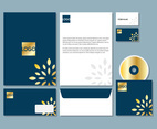 Abstract Navy Letterhead Set