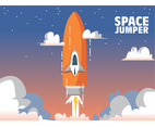 Rocket Jumps to the Sky Vector Design